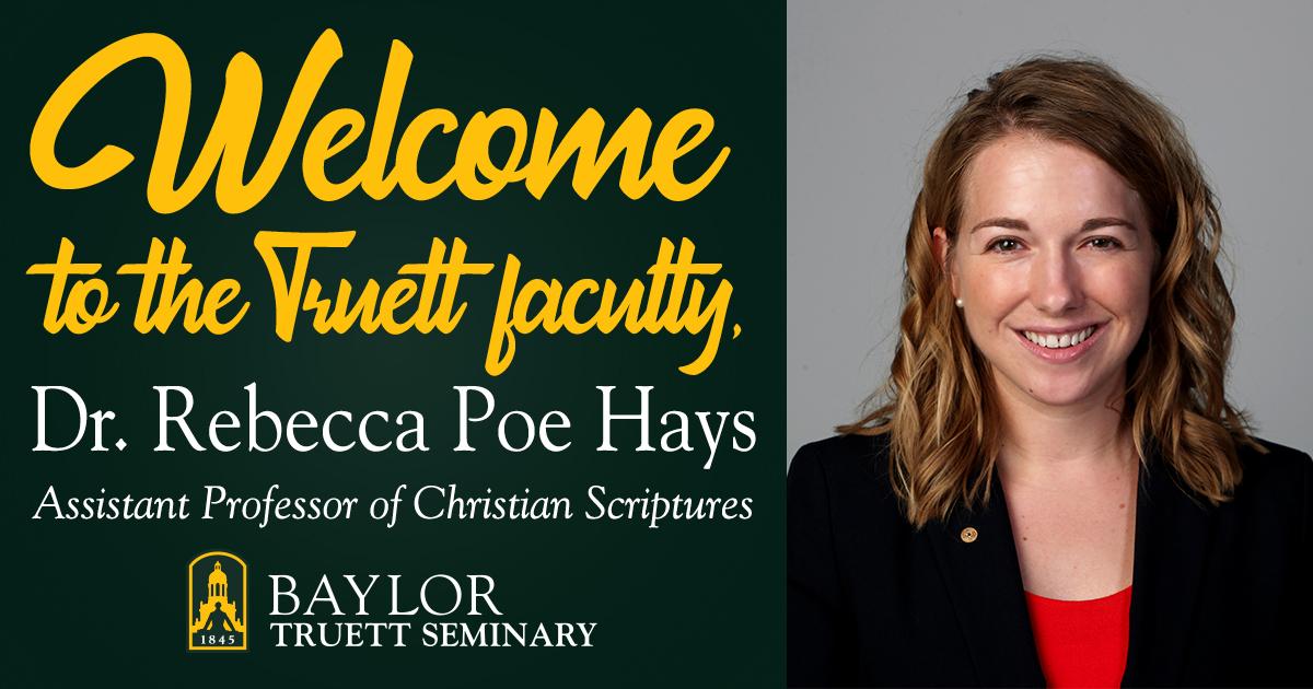 Welcome Rebecca Poe Hays