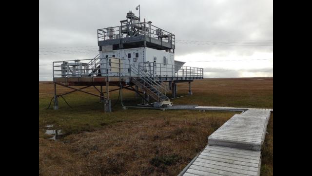 Medição de Radiação Atmosférica em Barrow, Alasca