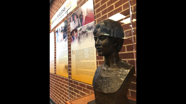Full-Size Image: Vivienne Malone-Mayes Bronze Bust