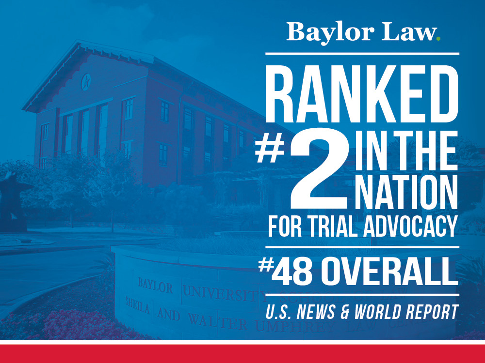Baylor Law Rises in 2019 U.S. News Law School Rankings