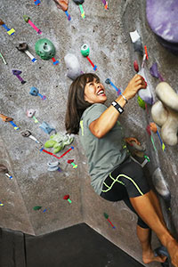 rock wall climbing at Baylor SLC