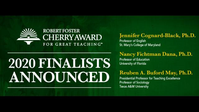Baylor Calendar Spring 2020 Finalists Selected for Baylor's $250,000 Robert Foster Cherry