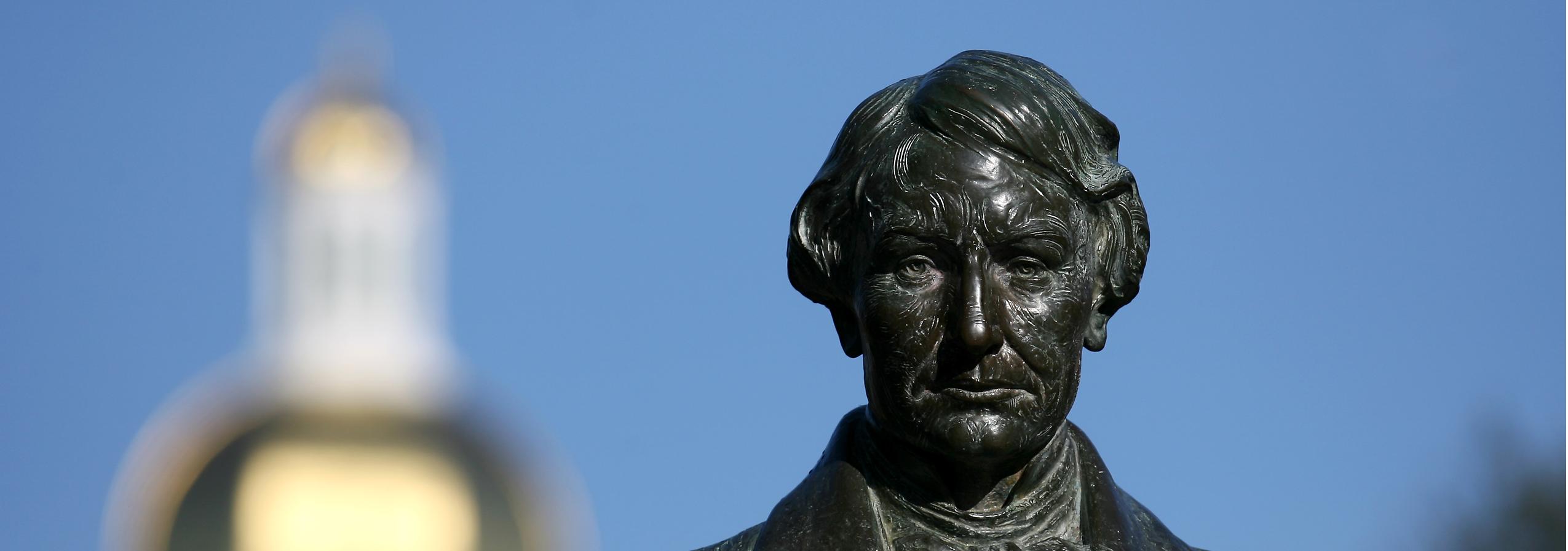 Closeup photo of Judge Baylor Statue