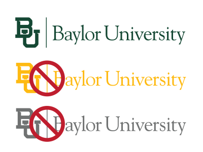 Baylor mark on white background
