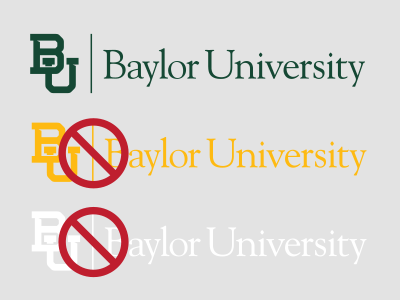 Baylor mark on light gray background