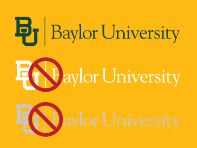 Baylor mark on gold background