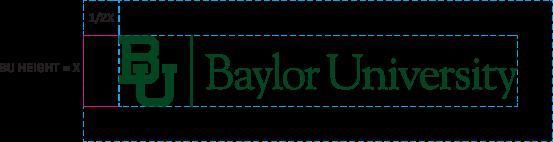 Baylor mark usage instructions - horizontal