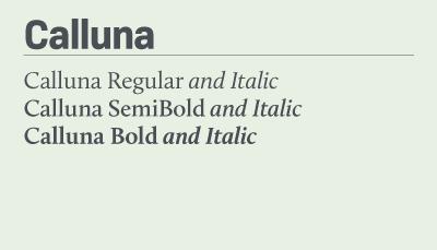 Calluna font samples