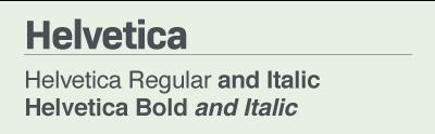 Helvetica font samples