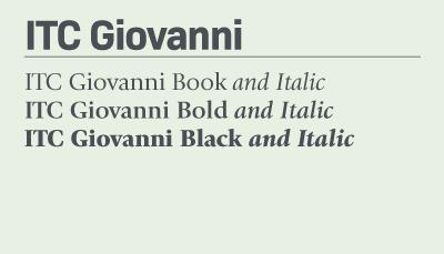 ITC Giovani font samples