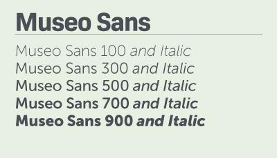 Museo Sans font samples