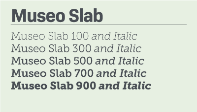 Museo Slab font samples
