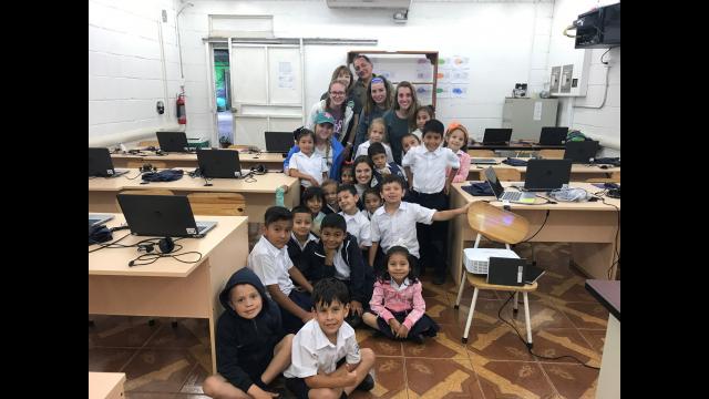 1st grade class Costa Rica 2019