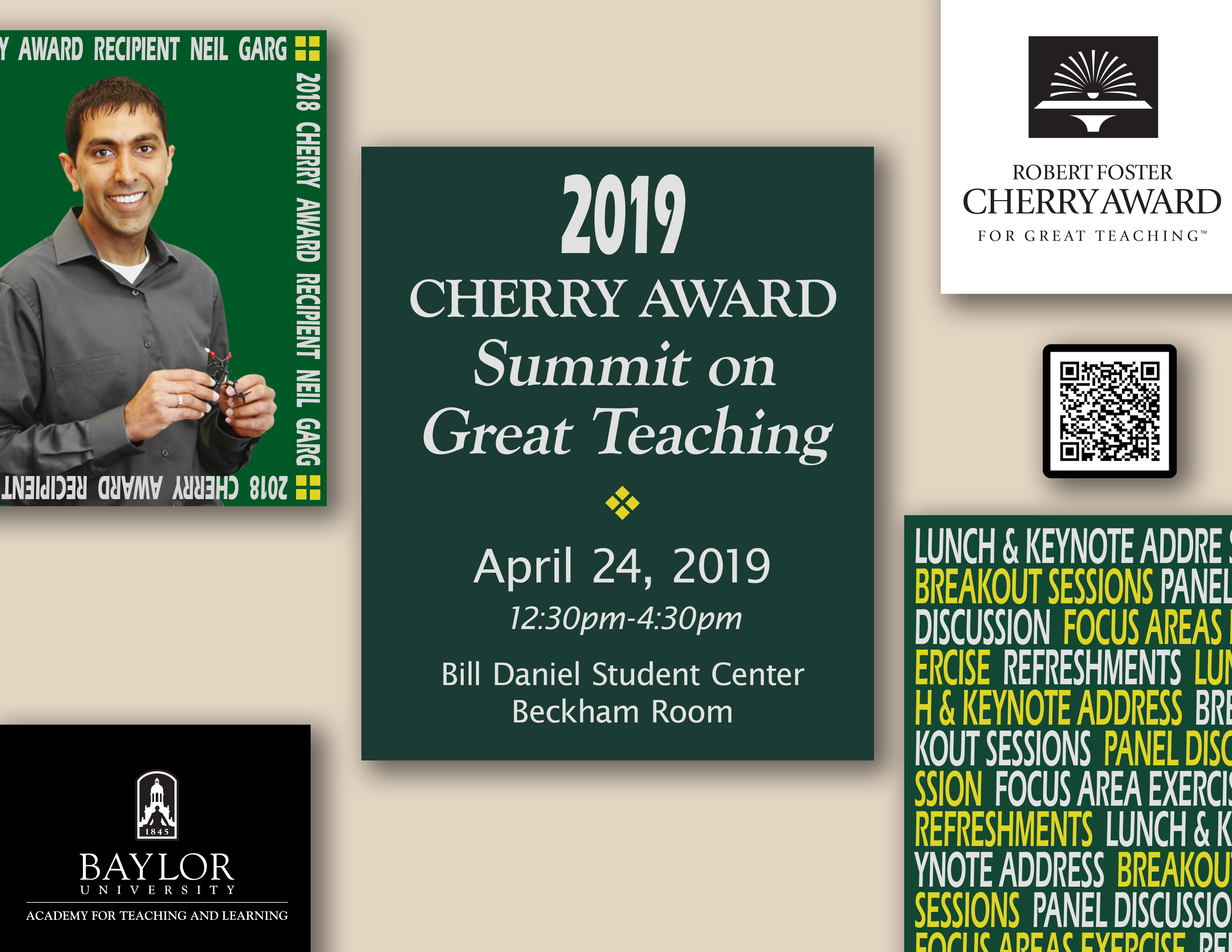 Flyer for Cherry Award Summit on Great Teaching 2019