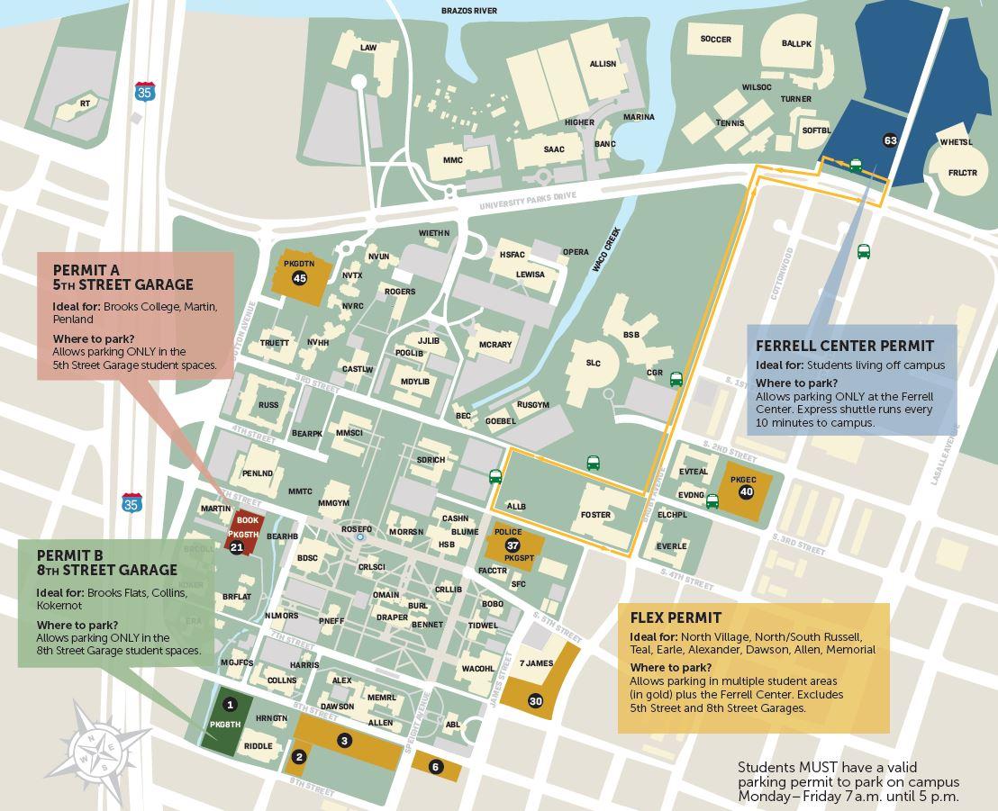 Parking Map | Department of Public Safety | Baylor University