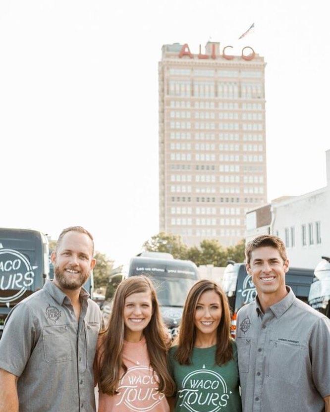 Waco Tours Owners L to R: Luke & Rachel Whyte, Rachel & David Ridley