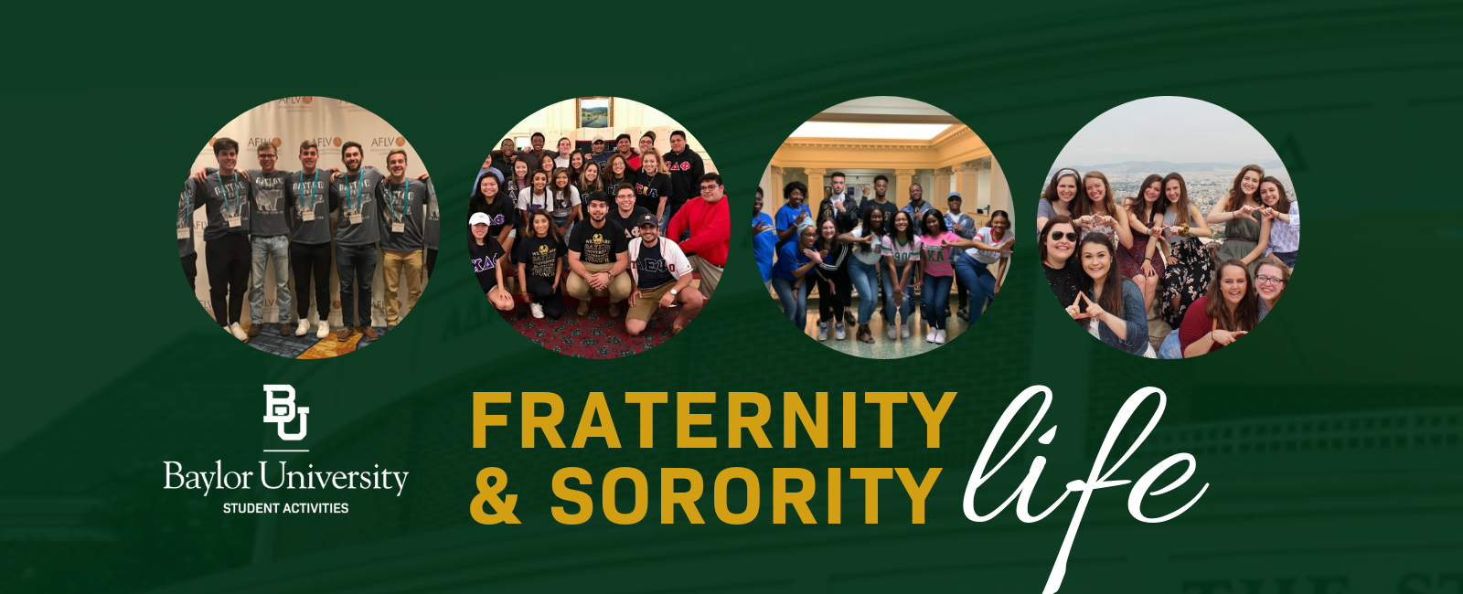 Fraternity and Sorority Life Banner