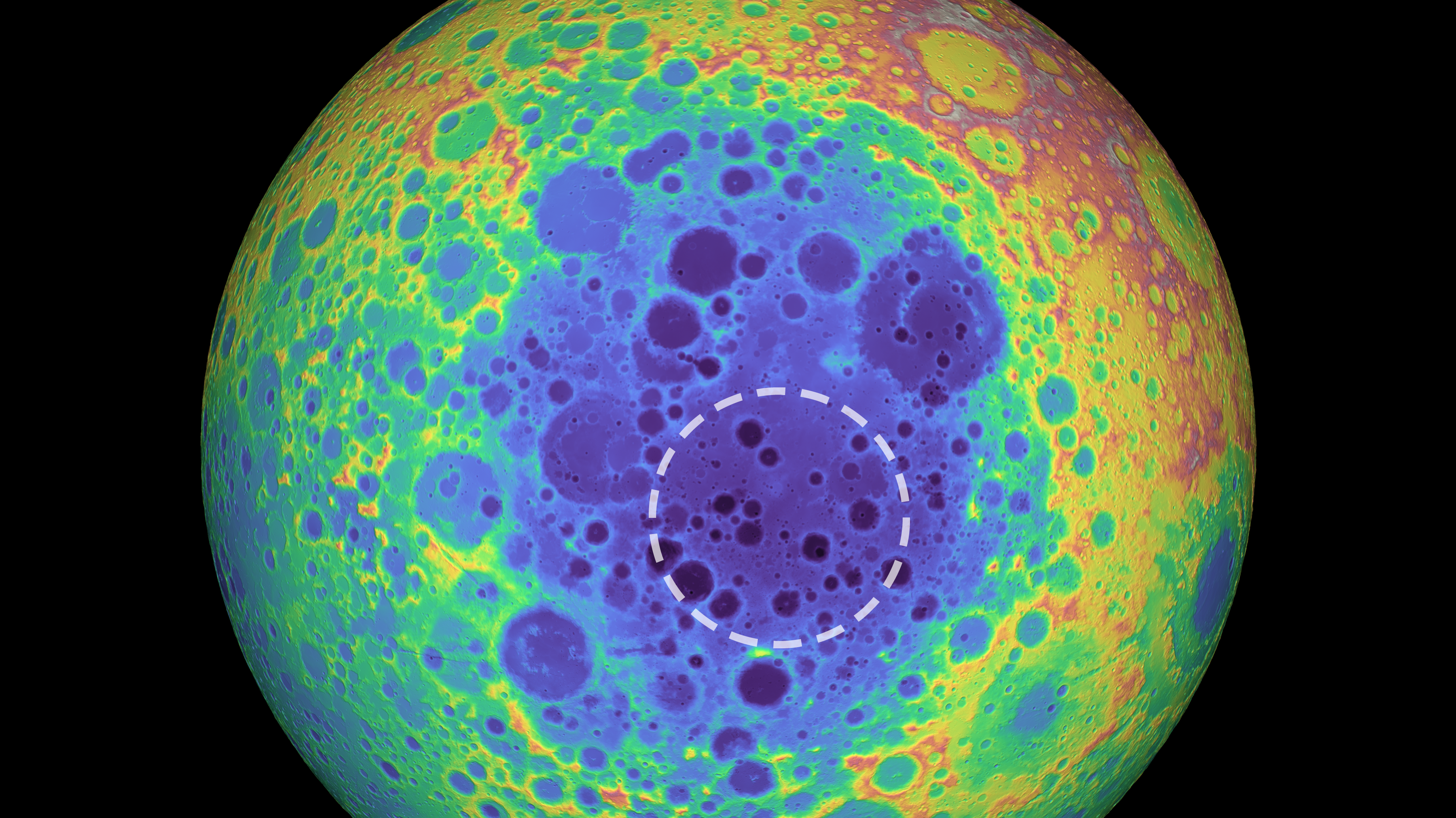 Huge M Found Under Moon's Largest Basin - Sky & Telescope Dark Side Of The Moon Map on