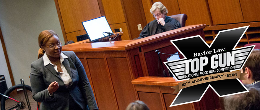 Tatiana Terry of Campbell Law School in the courtroom