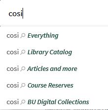 search scope menu