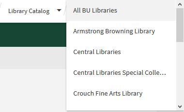 library selection menu