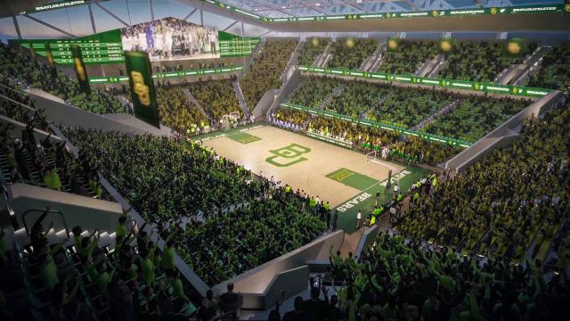 Architectural rendering Baylor Basketball Pavilion