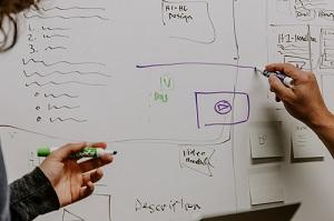 diagram on whiteboard