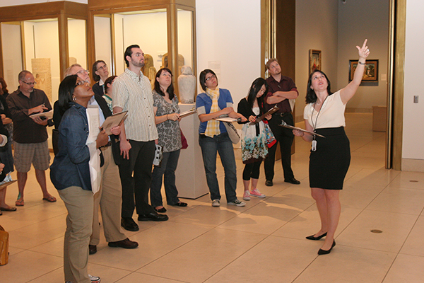 Professor White leads an Arts of the Ancient Worlds Public Tour at the Museum of Fine Arts, Houston
