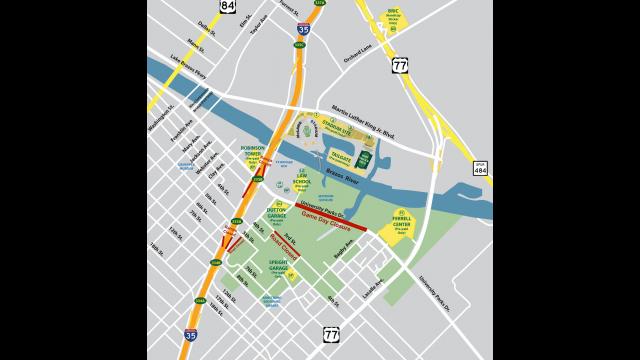 Gameday Parking Map