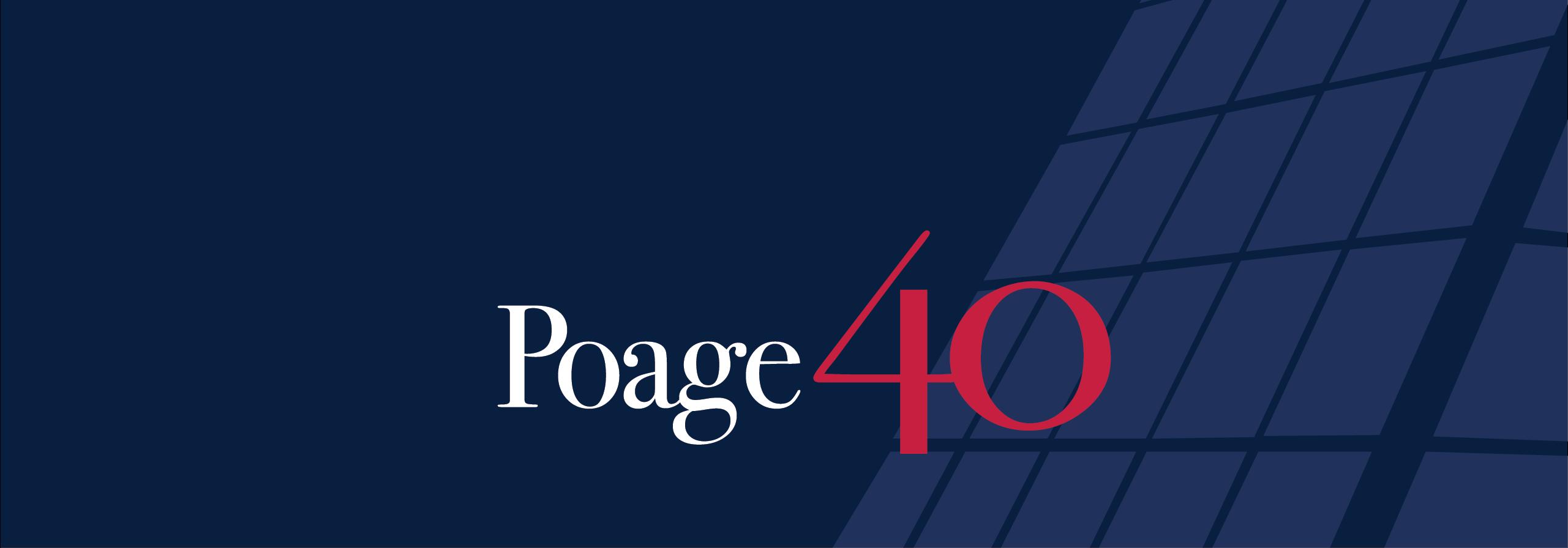 Poage at 40