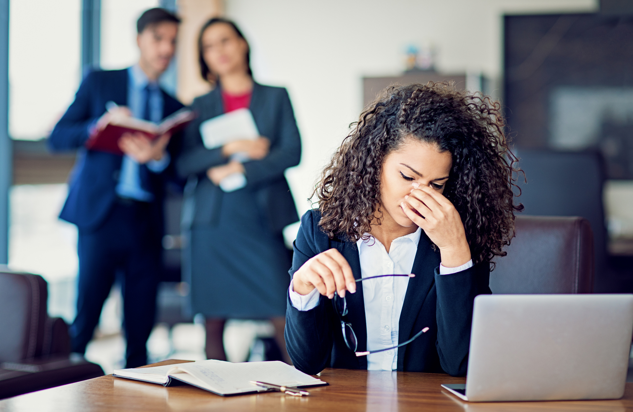 Stock photo of frustrated businesswoman
