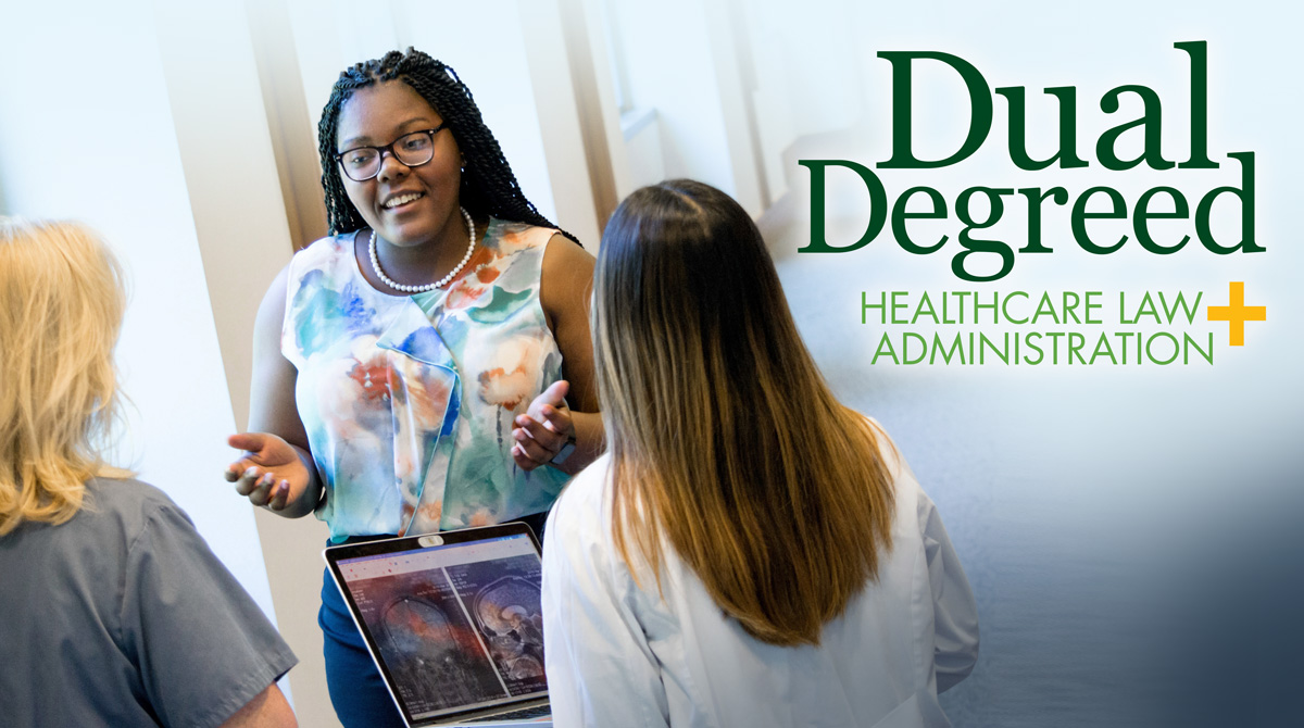 Banner announcing the dual degreed program