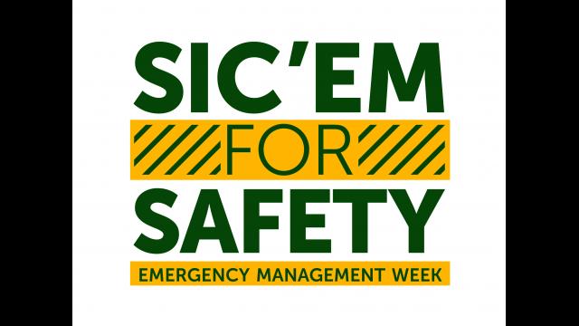 Full-Size Image: Sic 'em for Safety Emergency Management Week