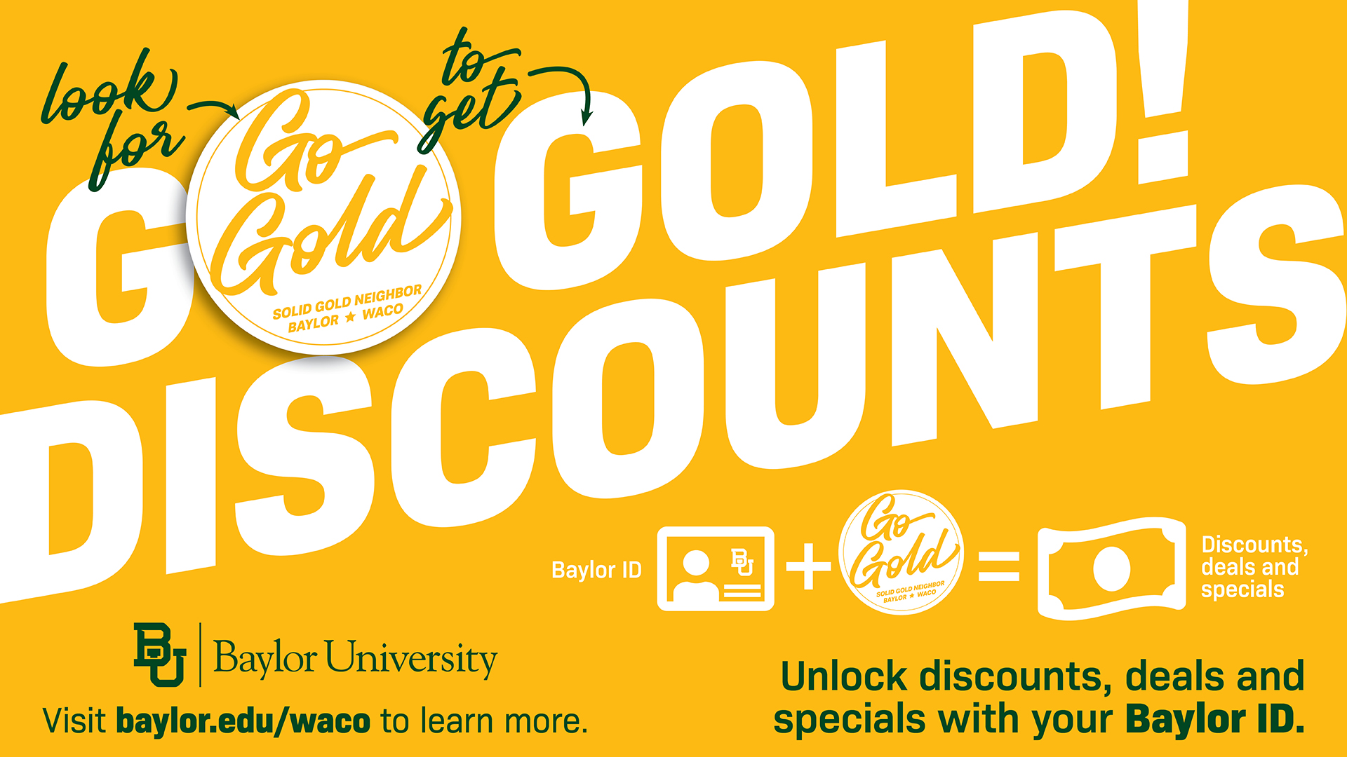 Go Gold! Discount Program