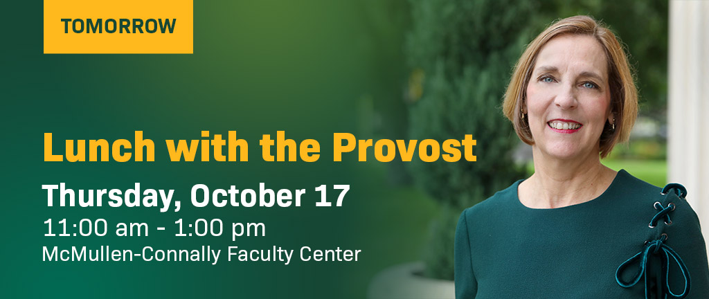 Lunch with Baylor Provost Nancy Brickhouse, Ph.D. tomorrow.