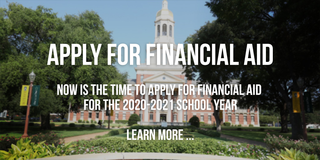 Apply for Financial Aid 2021
