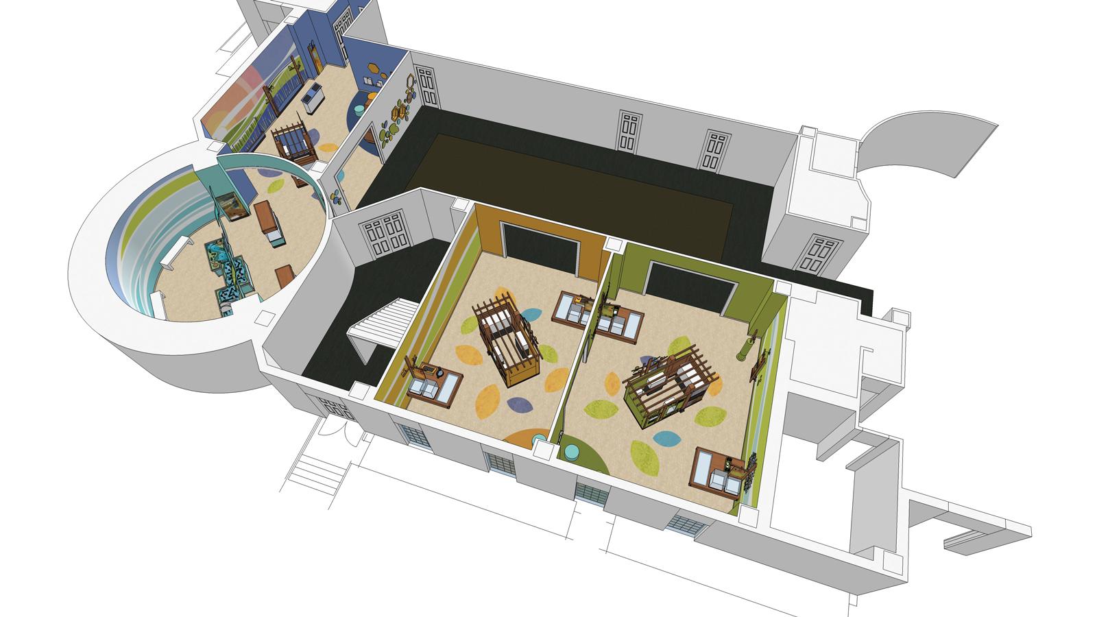artist's rendering of Backyard Ecology Hall