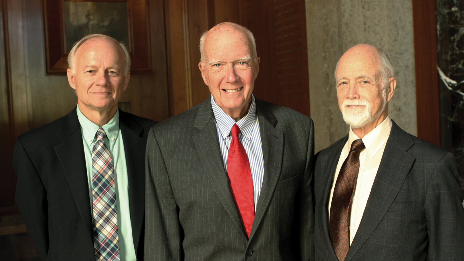 The last three Arts & Sciences deans (L to R): Drs. Lee Nordt, Wallace Daniel and William Cooper