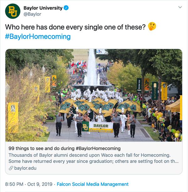 Baylor-HC Tweet