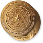 2011  Medal of Service in Business Leadership medal