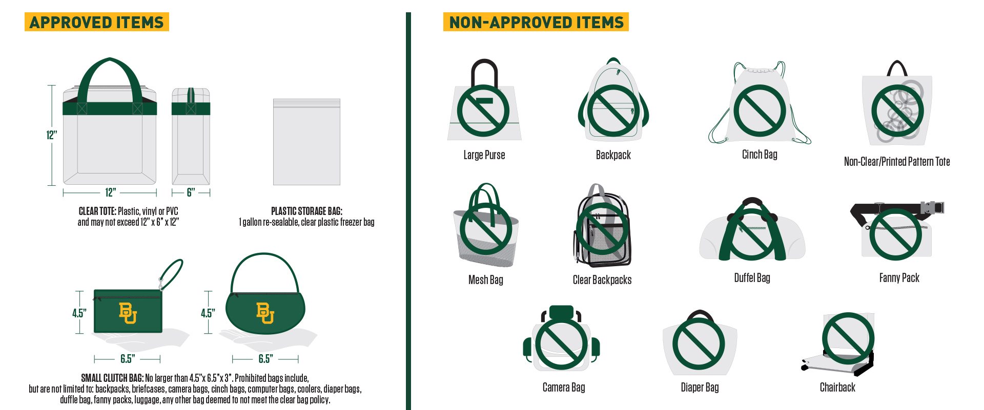 Bag policy poster