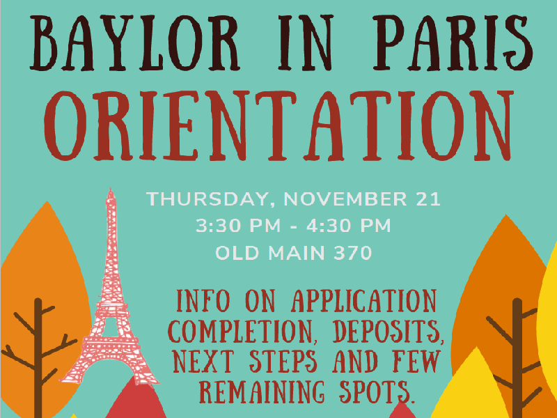 Study Abroad in Paris!