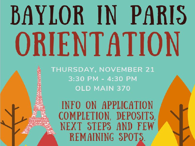 Baylor in Paris Information Session