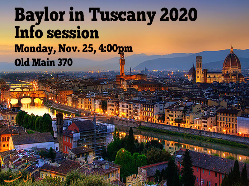 Baylor in Tuscany Information Session