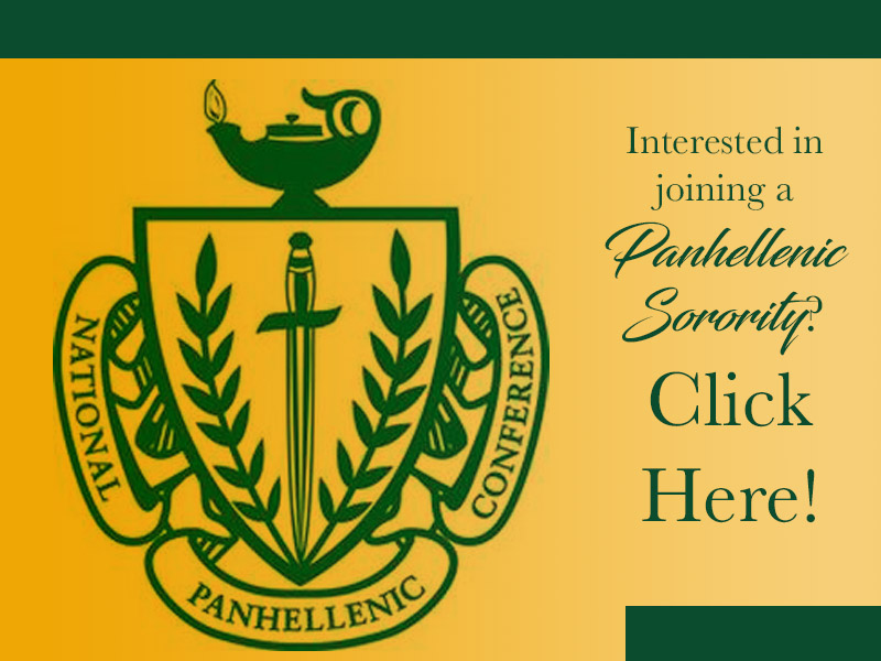 Join a Panhellenic Sorority