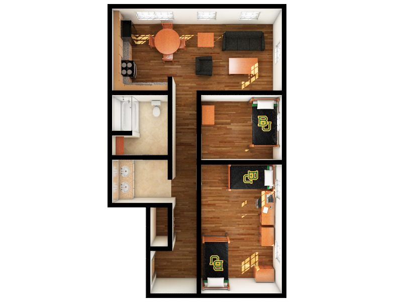 Apartment Double or Single Gold