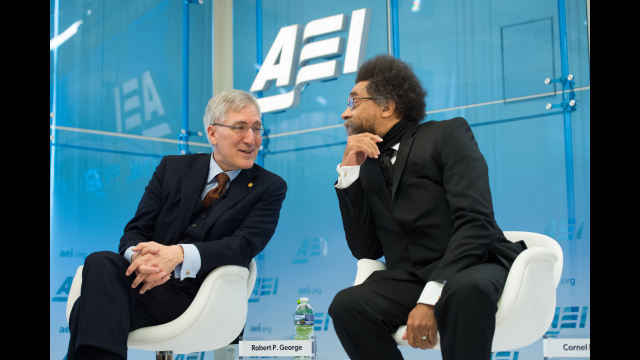 AEI Robert George and Cornel West