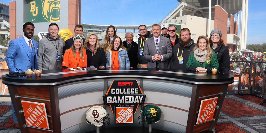 Sport Management students at Game Day