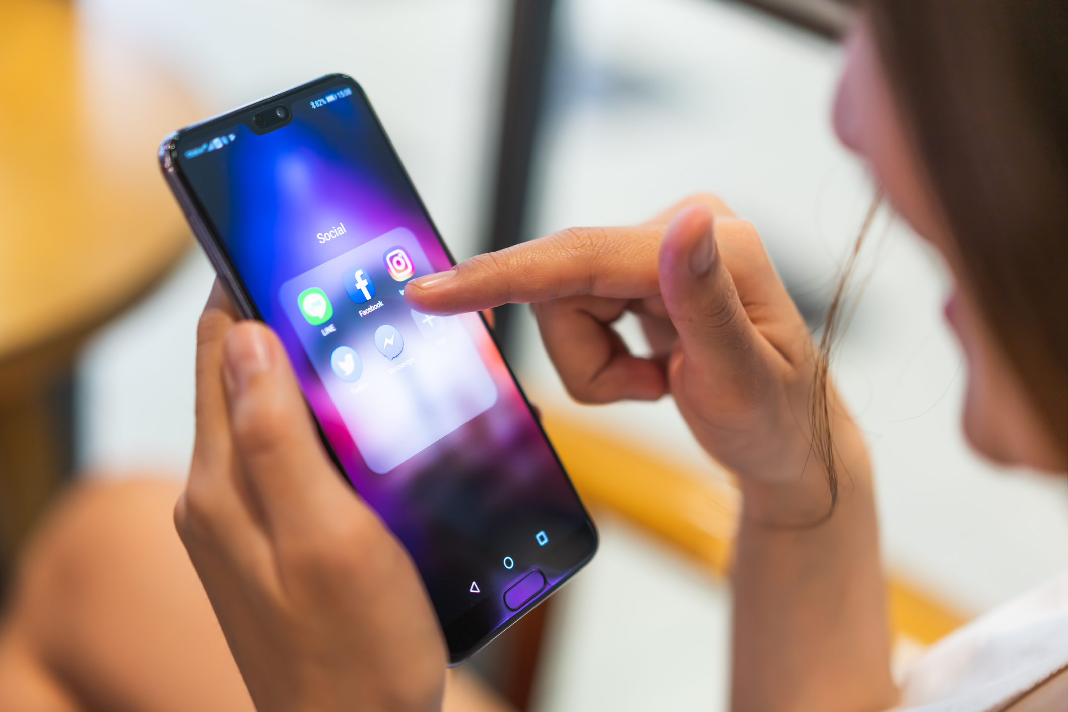 Stock photo of a smartphone