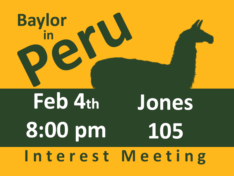 Interest Meeting for Baylor in Peru